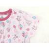 Dětská růžová noční košile myšky a balonky detail krku rukávu