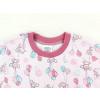 Dětská růžové pyžamo myšky a balonky detail krku
