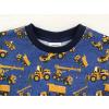 Dětské triko s dlouhým rukávem stavební stroje na džínové detail krku