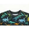 Dětské tričko s dlouhým rukávem dinosauři detail krku