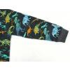 Dětské tričko s dlouhým rukávem dinosauři detail rukávu