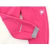 Dětské tmavě růžové softshellové kalhoty detail