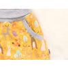 Dětské softshellové kalhoty zvířátka na hořčicové detail kapsy