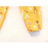 Dětské softshellové kalhoty zvířátka na hořčicové detail nohavice