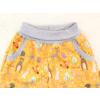 Dětské softshellové kalhoty zvířátka na hořčicové detail pasu