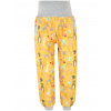 Dětské softshellové kalhoty zvířátka na hořčicové