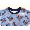 Dětské pyžamo motokros na šedé detail krku