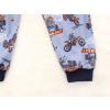 Dětské pyžamo motokros na šedé detail pasu nohavice