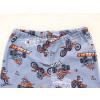Dětské pyžamo motokros na šedé detail pasu u kalhot