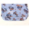 Dětské pyžamo motokros na šedé detail zadního dílu