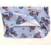 Dětské pyžamo motokros na šedé detail zadního dílu2