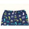 Dětské pyžamo kopačky a fotbalisti detail pasu u kalhot