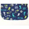 Dětské pyžamo kopačky a fotbalisti detail zadního dílu1