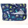 Dětské pyžamo kopačky a fotbalisti detail zadního dílu2