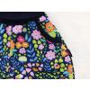 Dětské softshellové kalhoty kytičky detail kapsy
