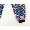 Dětské softshellové kalhoty kytičky detail nohavice