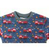 Dětské tričko s dlouhým rukávem hasiči detail krku