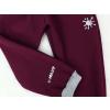 Zimní vínové softshellové kalhoty detail reflexních prvků