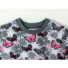 Dětské tričko s dlouhým rukávem motýlci detail krku