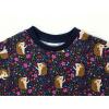 Dětské tričko s dlouhým rukávem ježci detail krku