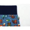 Dětské turecké baggy tepláky lesní zvířátka detail