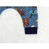 Dětské turecké baggy tepláky lesní zvířátka detail nohavice