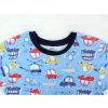 Dětské pyžamo auta detail krku