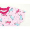 Dětská noční košilka barevní jednorožci detail rukávu