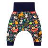 Dětské baggy tepláky zvířátka detail nohavice