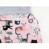 Dětské baggy tepláky kočičky detail