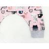 Dětské baggy tepláky kočičky detail nohavice