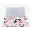 Dětské baggy tepláky kočičky detail pasu