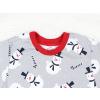 Dětské pyžamo sněhuláci detail krku