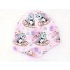 Dětská zateplená čepice pandy na sáňkách detail