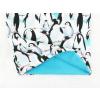 Dětský zateplený nákrčník tučňáci detail2