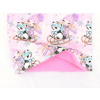 Dětský zateplený nákrčník pandy na sáňkách detail2