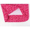 Dětské růžové pyžamo se srdíčky detail zadního dílu2