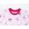 Dětské růžové pyžamo baletky detail krku