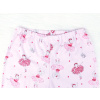 Dětské růžové pyžamo baletky detail pasu u kalhot