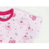 Dětská růová noční košilka baletky detail rukávu