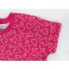 Dětská růžová noční košilka srdíčka detail rukávu