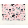Dětské triko kočičky na růžové detail