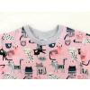 Dětské triko kočičky na růžové detail krku