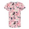 Dětské triko kočičky na růžové detail rukávu