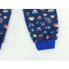 Dětské klučičí pyžamo auta a motorky detail nohavice