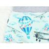 Dětské turecké baggy tepláky letadla a balonky detail