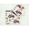 Dětská zateplená čepice traktory detail2