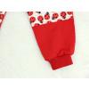 Dětské červené tepláky berušky detail nohavice