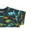 Dětské triko s krátkým rukávem dinosauři detail detail rukávu
