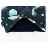 Dětský modrý nákrčník vesmír detail2